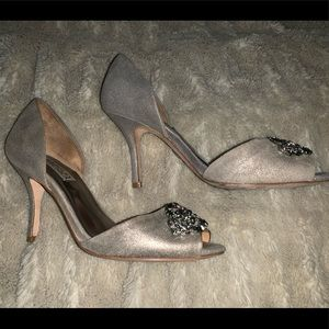 Badgley Mischka Rhinestone Heels Size 7 1/2